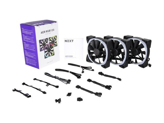 Imagen de FAN COOLER NZXT AER RGB 120MM TRIPLE PACK T1 3X FAN 120 GTIA