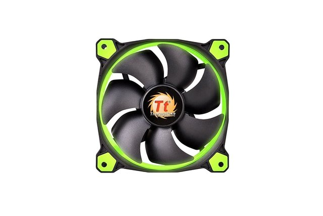 FAN COOLER THERMAL RIING 12 LED GREEN RADIATOR 3 PACK GTIA - tienda online