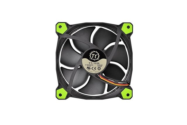FAN COOLER THERMAL RIING 12 LED GREEN RADIATOR 3 PACK GTIA - Exxa Store