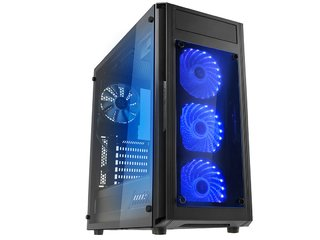 GABINETE RAIDMAX ALPHA PRIME A15 BLACK FAN 120 LED Y CONTROL