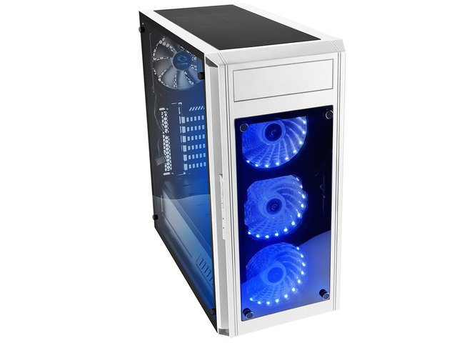 GABINETE RAIDMAX ALPHA PRIME A15 WHITE FAN 120 LED Y CONTROL
