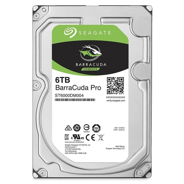 DISCO RIGIDO HDD 6 TB 7200 SATA 256MB SEAGATE BARRACUDA PRO