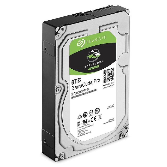 DISCO RIGIDO HDD 6 TB 7200 SATA 256MB SEAGATE BARRACUDA PRO en internet