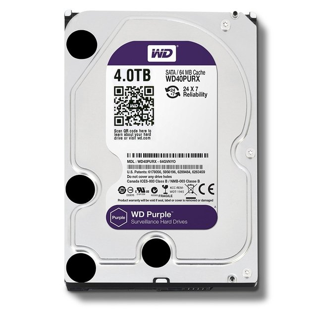 DISCO RIGIDO 4TB 5400 SATA3 WD PURPLE SURVEILLANCE 64MB
