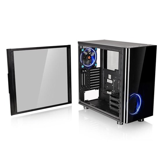 GABINETE THERMALTAKE VIEW 31 TG BLACK FAN 2X 140MM MID TOWER - tienda online