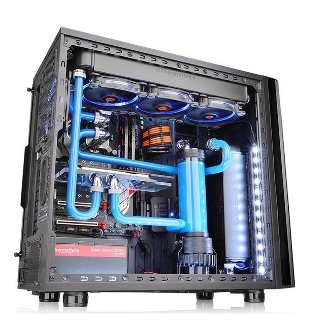 GABINETE THERMALTAKE VIEW 31 TG BLACK FAN 2X 140MM MID TOWER