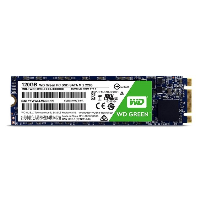 DISCO RIGIDO SOLIDO SSD M.2 120GB WD GREEN SATA III INTERNAL - tienda online