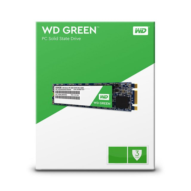 DISCO RIGIDO SOLIDO SSD M.2 120GB WD GREEN SATA III INTERNAL