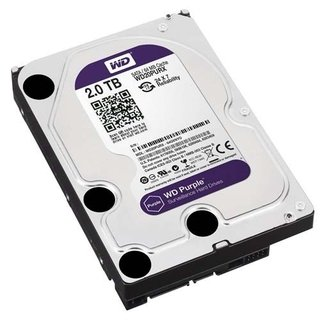 DISCO RIGIDO HDD 2 TB 5400 SATA3 WD PURPLE SURVEILLANCE 64MB