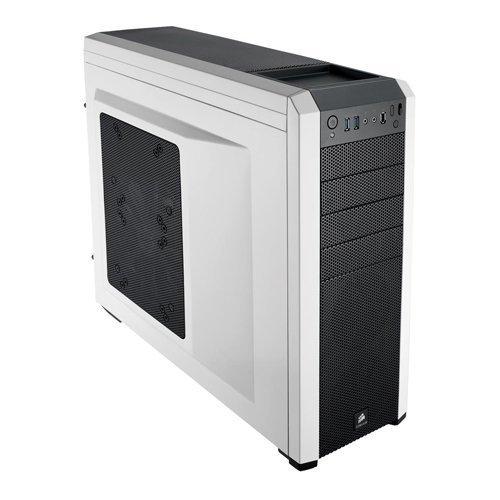 Imagen de GABINETE CORSAIR CARBIDE 500R WHITE MIDTOWER FAN 3X120 1X200
