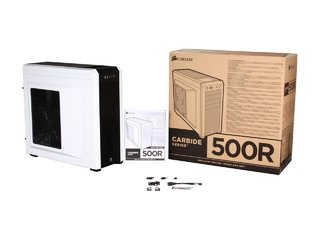 GABINETE CORSAIR CARBIDE 500R WHITE MIDTOWER FAN 3X120 1X200