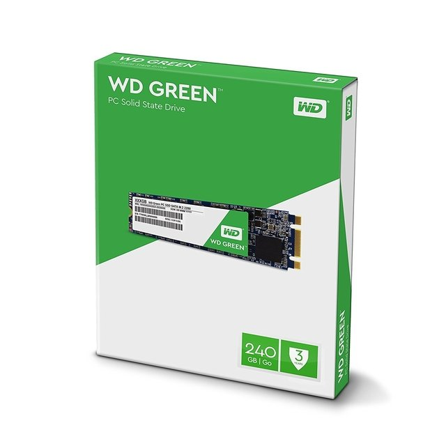 Imagen de DISCO RIGIDO SOLIDO SSD M.2 240GB WD GREEN SATA III INTERNAL