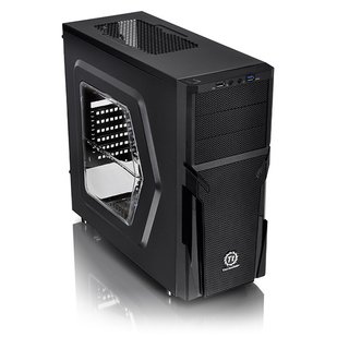 Imagen de GABINETE THERMALTAKE VERSA H21 BLACK BLUE LED MIDTOWER FAN
