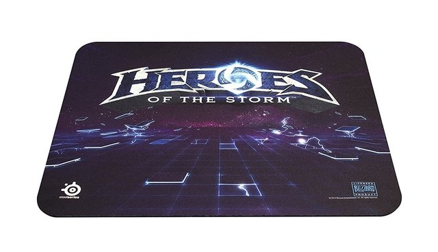 MOUSE PAD STEELSERIES QCK+ HEROES STORM LOGO - 320X270X2MM - Exxa Store