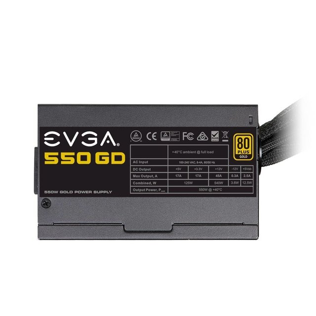 FUENTE PC EVGA 550W GD 80 PLUS - Exxa Store