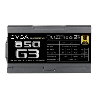 FUENTE PC EVGA SUPERNOVA 850W G3 80 PLUS - Exxa Store