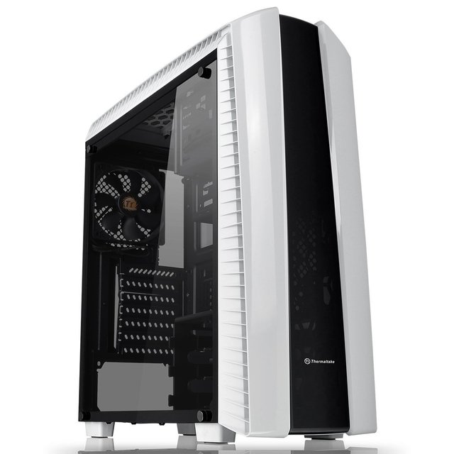 GABINETE THERMALTAKE VERSA N27 SNOW RED LED MIDTOWER FAN
