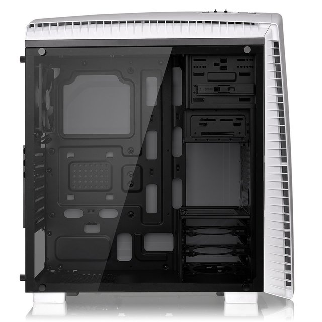 GABINETE THERMALTAKE VERSA N27 SNOW RED LED MIDTOWER FAN en internet