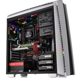 GABINETE THERMALTAKE VERSA N27 SNOW RED LED MIDTOWER FAN - Exxa Store