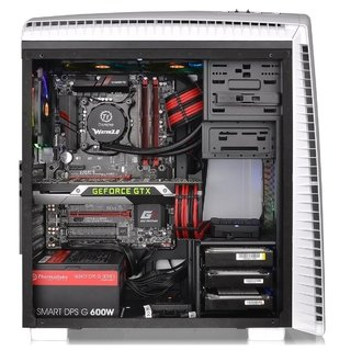 GABINETE THERMALTAKE VERSA N27 SNOW RED LED MIDTOWER FAN - tienda online