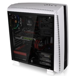 Imagen de GABINETE THERMALTAKE VERSA N27 SNOW RED LED MIDTOWER FAN