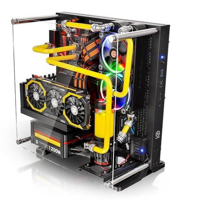 GABINETE THERMALTAKE CORE P3 BLACK EDITION MIDTOWER - comprar online