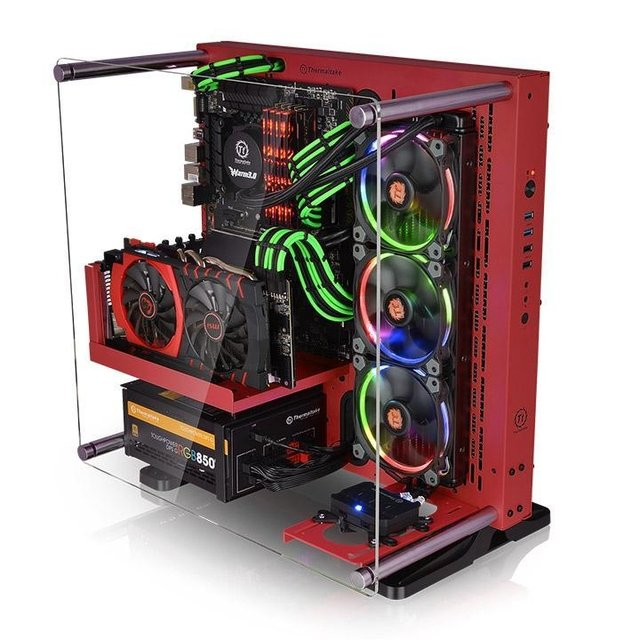 GABINETE THERMALTAKE CORE P3 RED EDITION MIDTOWER