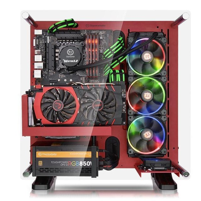 GABINETE THERMALTAKE CORE P3 RED EDITION MIDTOWER - comprar online