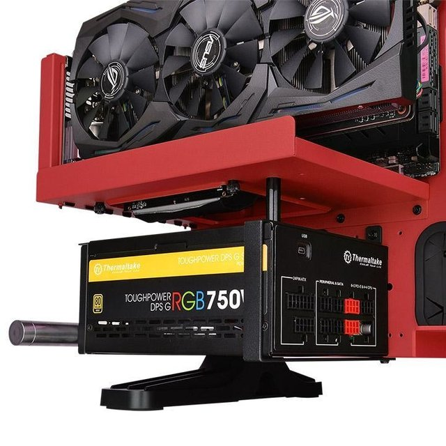 Imagen de GABINETE THERMALTAKE CORE P3 RED EDITION MIDTOWER