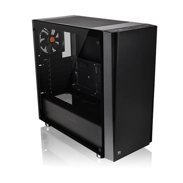 GABINETE THERMALTAKE VERSA J21 BLACK MIDTOWER FAN 120MM - Exxa Store