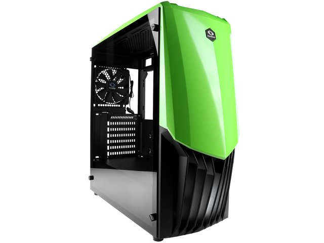 GABINETE RAIDMAX GAMA A18 VERDE FAN 120MM MIDTOWER