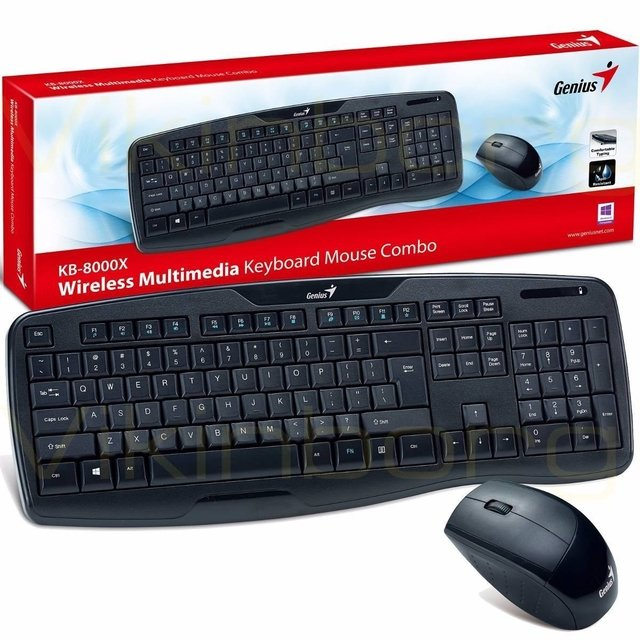 TECLADO + MOUSE INALAMBRICO GENIUS KB-8000X KIT