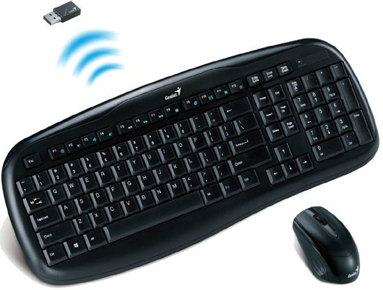 TECLADO + MOUSE INALAMBRICO GENIUS KB-8000X KIT en internet