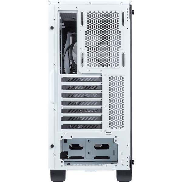 GABINETE CORSAIR CRYSTAL 460X RGB WHITE FAN X2 MIDTOWER - Exxa Store
