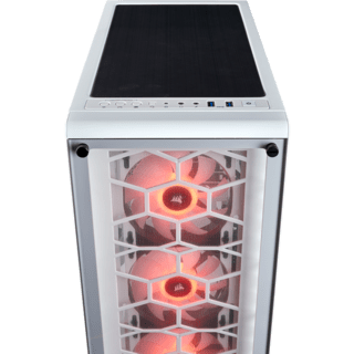 GABINETE CORSAIR CRYSTAL 460X RGB WHITE FAN X2 MIDTOWER