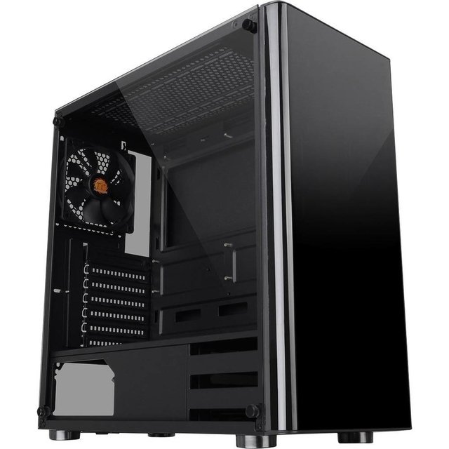 GABINETE THERMALTAKE V200 TG BLACK MIDTOWER FAN 120MM - Exxa Store