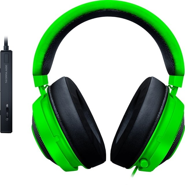 AURICULAR RAZER KRAKEN TOURNAMENT EDITION WIRED GREEN C/MIC - comprar online