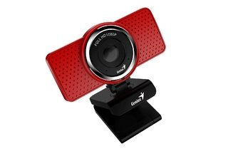 WEBCAM GENIUS S RS ECAM 8000 1080P MICROFONO DIGITAL ROJA - comprar online