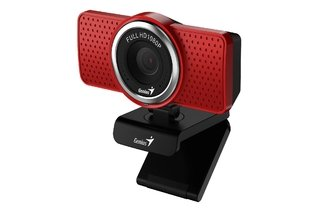 WEBCAM GENIUS S RS ECAM 8000 1080P MICROFONO DIGITAL ROJA - Exxa Store