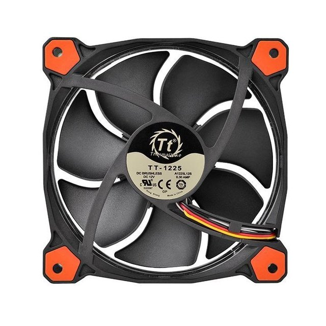 FAN COOLER THERMALTAKE RIING 12 LED RED RADIATOR - comprar online