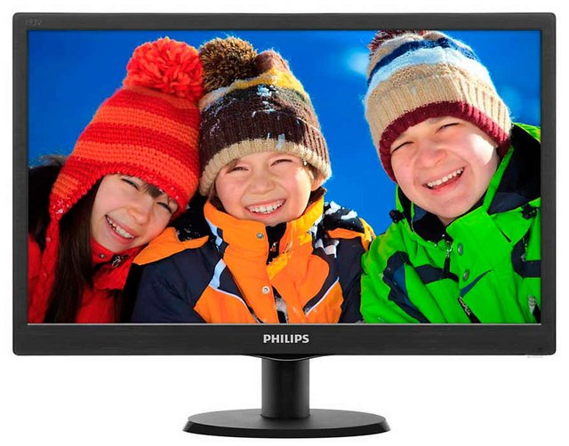 MONITOR LED 19 PHILIPS WIDESCREEN 16:9 1366X768 5MS VGA HDMI - tienda online