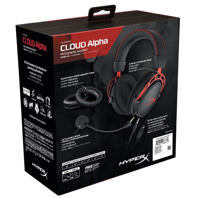 Imagen de AURICULARES HYPERX CLOUD ALPHA GAMING RED PC PS4 XBOX ONE