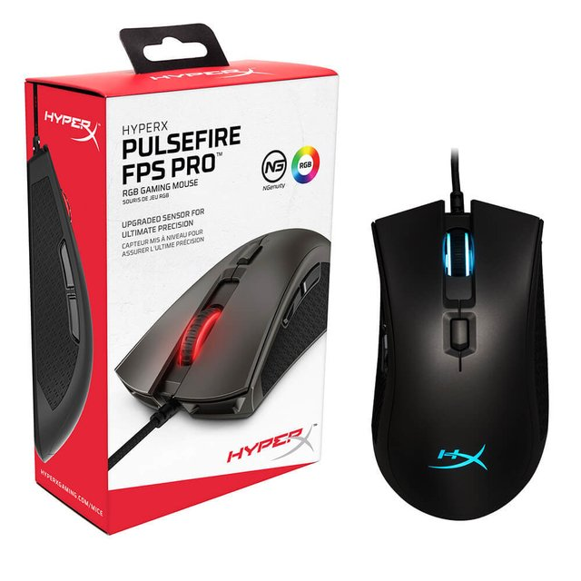 MOUSE HYPERX PULSEFIRE FPS PRO RGB GAMING 16000DPI 6 BOTONES