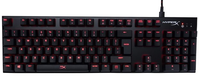 TECLADO HYPERX ALLOY FPS MECANICO GAMING CHERRY MX RED