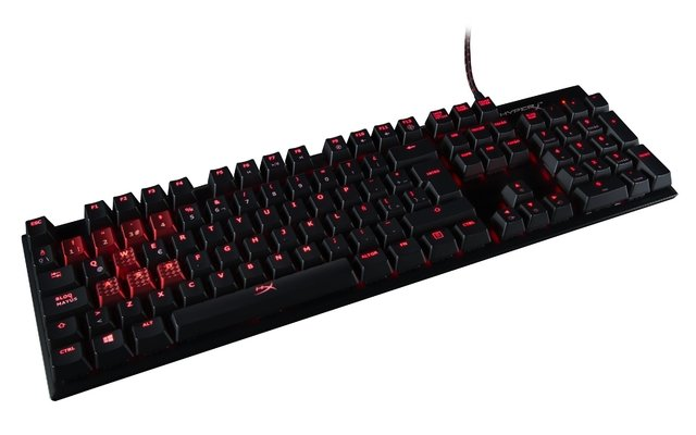 TECLADO HYPERX ALLOY FPS MECANICO GAMING CHERRY MX RED - comprar online