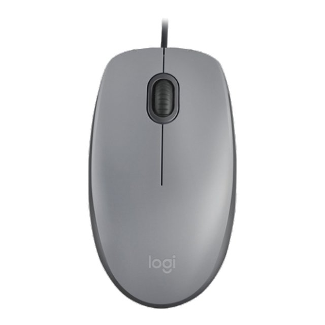MOUSE LOGITECH M110 SILENT GRAY 1000 DPI WIRED 910-005494