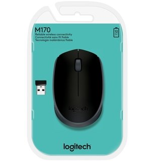 Imagen de MOUSE LOGITECH M170 WIRELESS BLACK BLISTER 10 MTS 910-004940