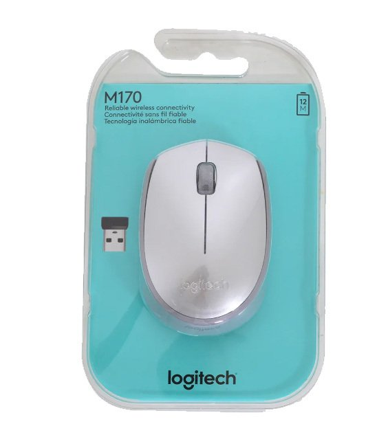Imagen de MOUSE LOGITECH M170 WIRELESS SILVER BLISTER 10MTS 910-005334