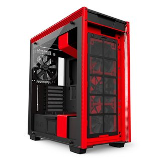 Imagen de GABINETE NZXT H700 MATTE BLACK/RED MIDTOWER T.G FAN X4