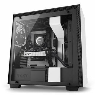 GABINETE NZXT H700 MATTE WHITE-BLACK MIDTOWER T.G FAN X4